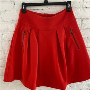 Anthropologie maeve red skirt size 4